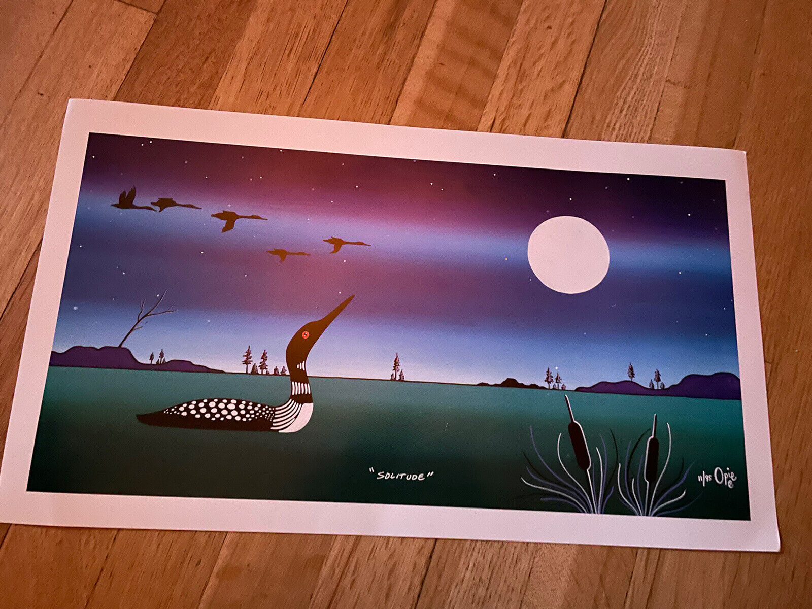 """Oppenheim Opie Signed Limited Edition Silkscreen """"Solitude"""" on eBay thumbnail"""
