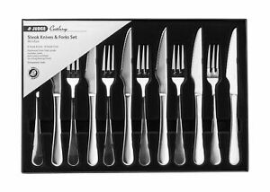 Judge-Windsor-Stainless-Steel-12-Piece-Steak-Knife-amp-Fork-Set-25-Year-Guarantee