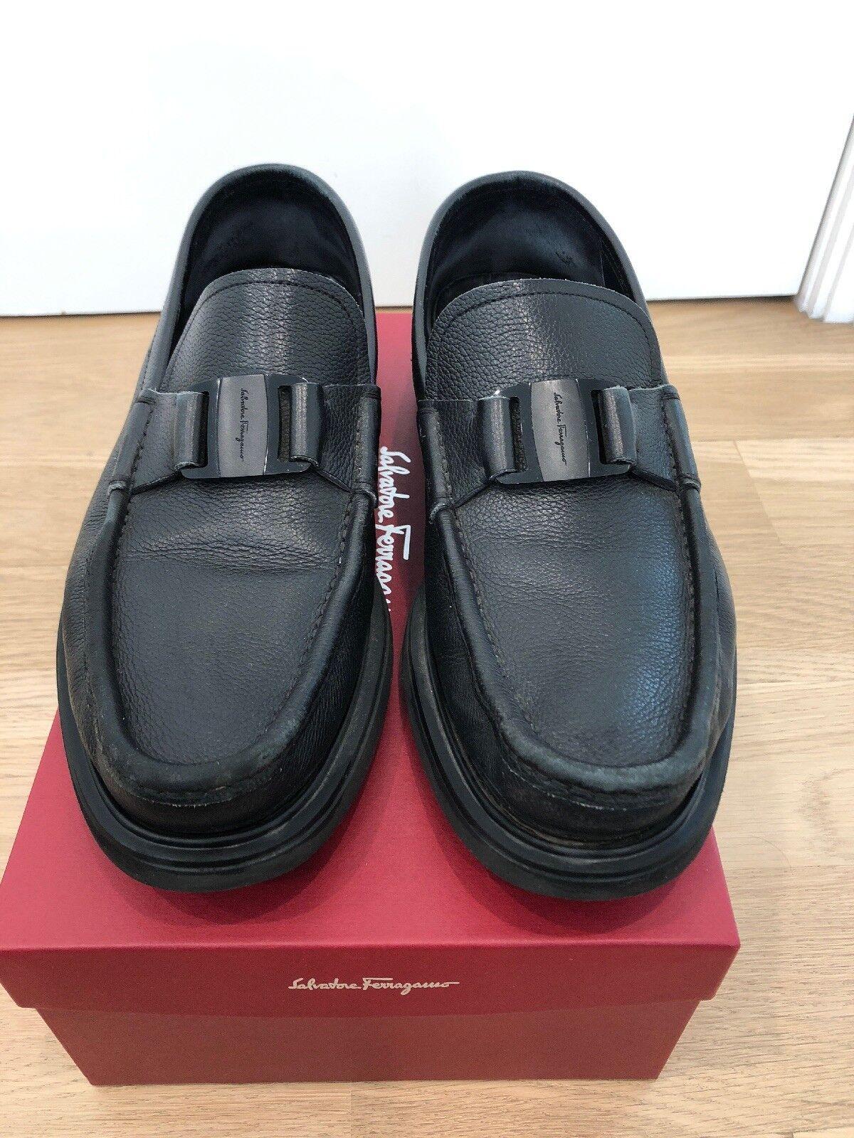 Excelente Hombre Zapatos Talla Condición Salvatore Usada Ferragamo 1FcJ3TlK