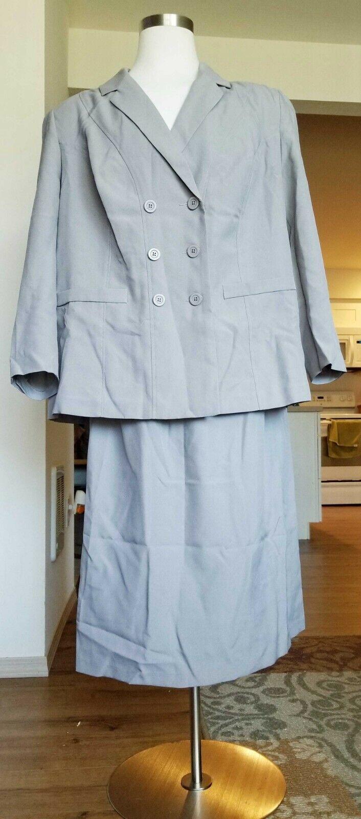Gorgeous Allison Woods Women Skirt Suit Size 26W