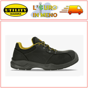 the latest bc214 90fe6 Dettagli su SCARPE BASSE ANTINFORTUNISTICHE DIADORA UTILITY FLOW II LOW S3  SRC NERO