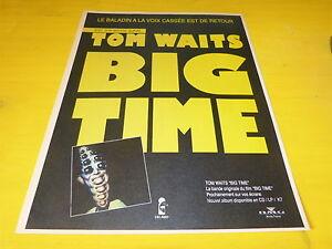 TOM-WAITS-BIG-TIME-FRENCH-VINTAGE-PRESS-ADVERT