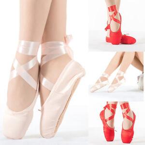 Kinder-Maedchen-Ballettschuhe-Bauchtanzschuhe-Schlaeppchen-Ballerinas-Tanzsch-C2Y6
