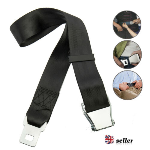 Adjustable Airplane Seat Belt Extension Extender Airline//Buckle Aircraft UK Sale