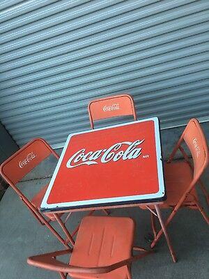 Coca Cola Vintage Metal Folding Table