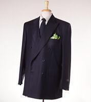 $4495 D'avenza Solid Navy Blue Super 150s Wool Suit Us 50 R (eu 60) Handmade on sale