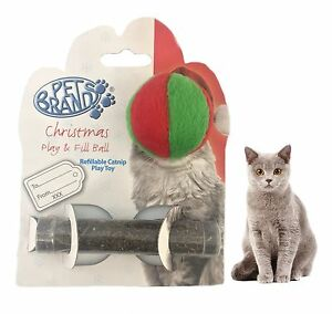 PETBRANDS-CAT-KITTEN-XMAS-CHRISTMAS-PLAY-amp-FILL-BALL-WITH-CATNIP-TUBE-XMASC5