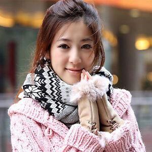 Gloves-Warmer-Fashion-Chic-Women-039-s-Rabbit-Fur-winter-leather-Warm-Fingerless