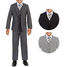 Boys Formal Three Piece Kids Suit Set - 5PC - Jacket, Shirt, Tie, Vest, Pants