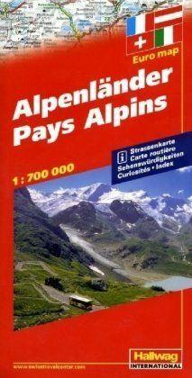 Hallwag Straßenkarten, Alpenländer: Straßenkarte.... | Buch | Zustand akzeptabel