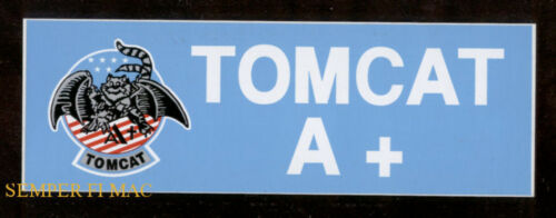 TOMCAT FLY NAVY BUMPER STICKER DECAL ZAP MADE IN US NAVY PIN UP GIFT WOW F-14 A