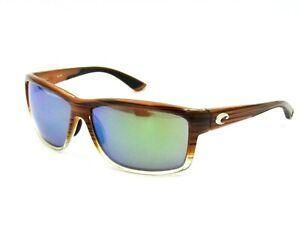 Costa Del Mar MAG BAY AA81 Polarized Sunglasses, Wood Grain / Green Mirror #03H