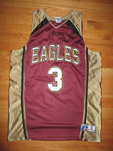quality design 28ea8 179d3 Details about Russell Athletic BOSTON COLLEGE EAGLES No. 4 (Youth LG)  Basketball Jersey