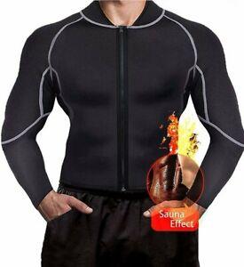 Hot Men/'s Sweat Vest Body Shaper Zipper Slim Sauna Tank Tops Neoprene Gym Jacket