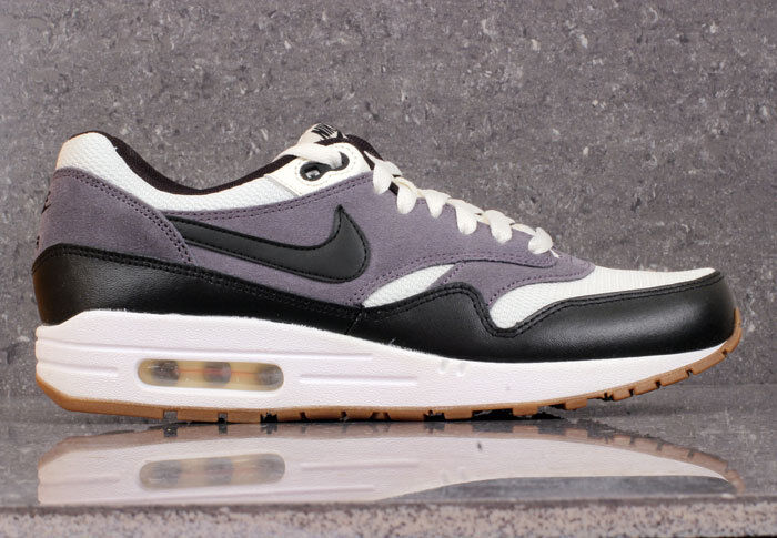 Nike Air Max 1 Essential Black White Grey White Gum 90 Force Trainers Sneakers