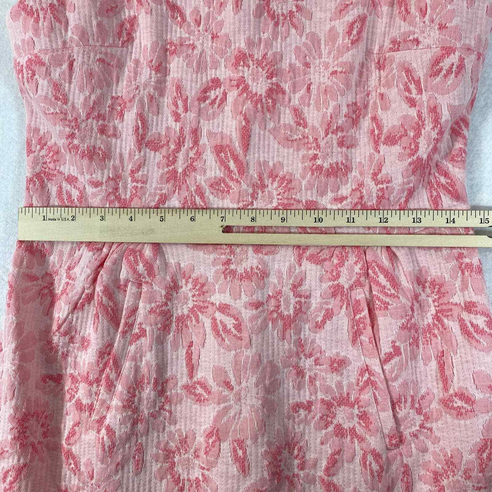 Tyler Boe Dress Small Womens Mini Pink Floral Kni… - image 6