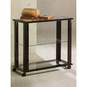 Carrello porta TV in legno colore nero con piani vetro   eBay