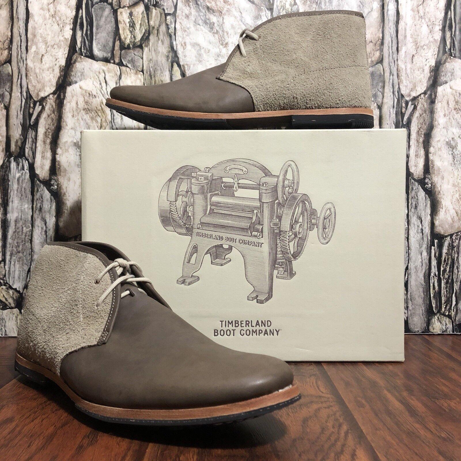 e5ea8161923204 New! Steve Steve Steve Madden Men s IVON Chukka Boot NIB Grey Leather Size  17  100 6ed243