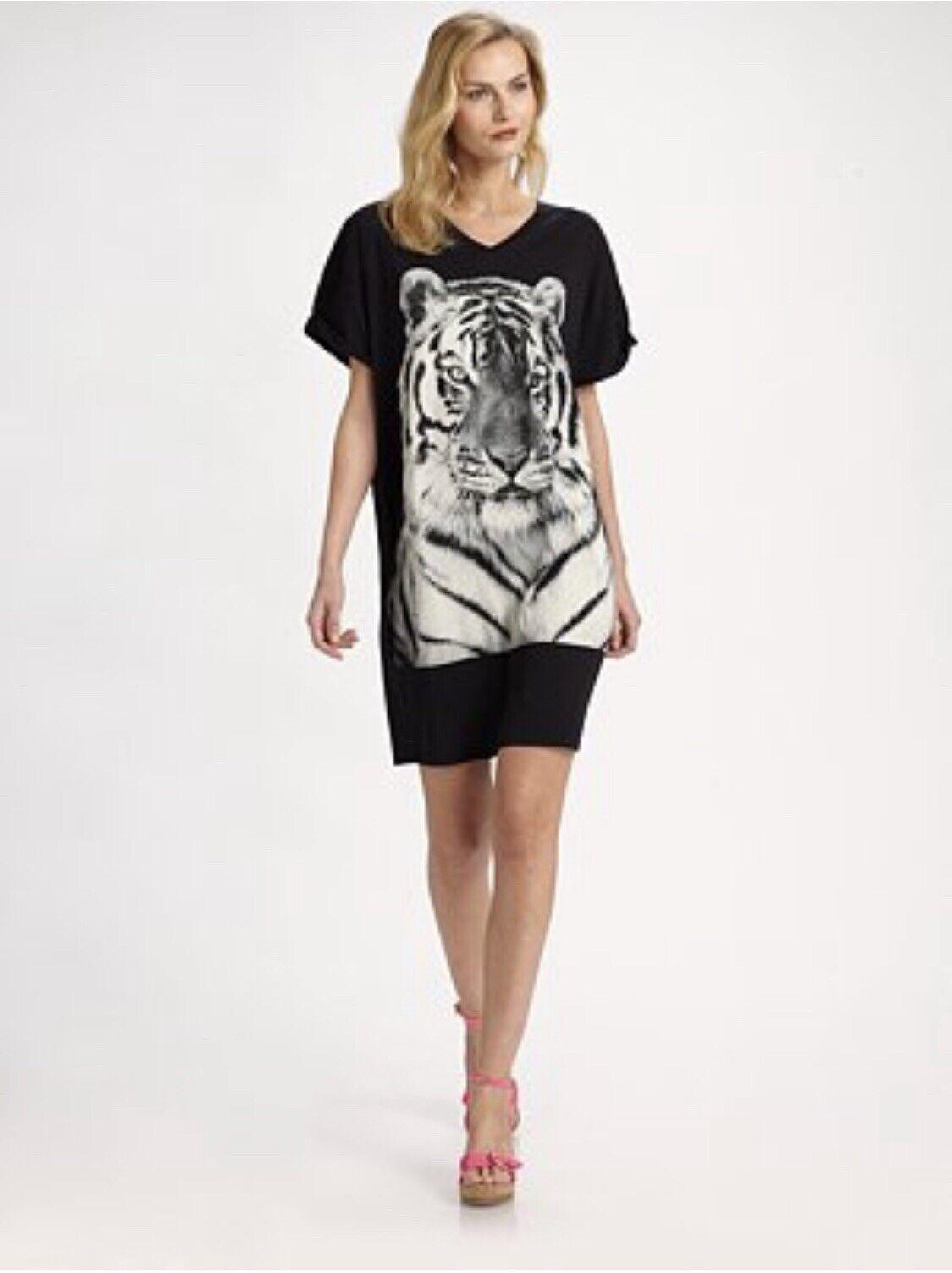 Stella McCochetney Tiger Print Túnica  súperior Vestido Talla 42 BNWT visto en Rihanna  apresurado a ver