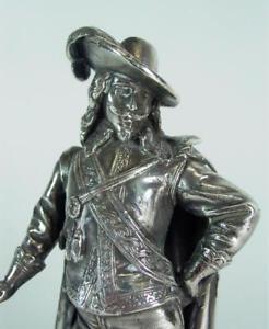 Jugendstil Figur  1900/20  - Musketier -  versilbert