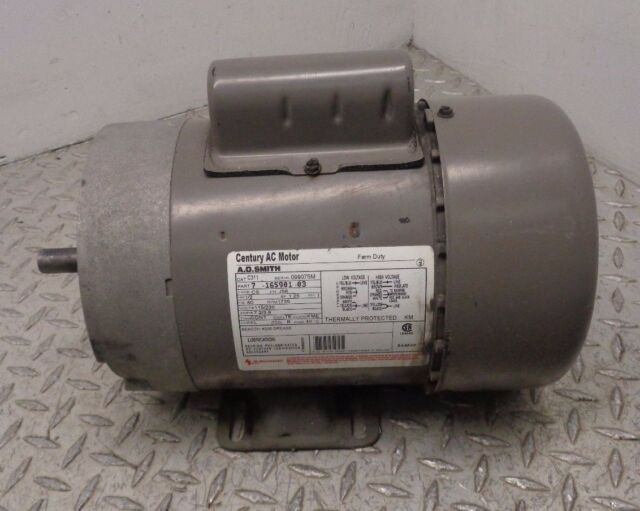 Century / A O Smith Electric Motor 1/2 HP RPM 1725 115/220V capacitor start
