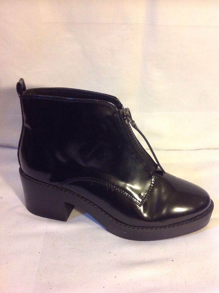Office London Black Ankle Leather Boots Size 39