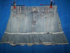 Womens-OLD-NAVY-Denim-Blue-Jean-Skirt-w-Frayed-Edges-Size-4