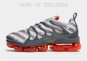 the best attitude 55f77 40f86 Details about Nike Air VaporMax Plus Red Grey Men's Trainers All Sizes  Limited Stock