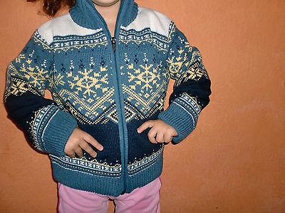 Strickjacke Jacke Pullover Sweatshirt Wolle 104/110/116/122/128/140/152/164