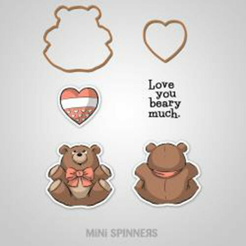 4736 NEW MINI SPINNERS Unmounted Stamp /& Die Set ART IMPRESSIONS Baby Bear