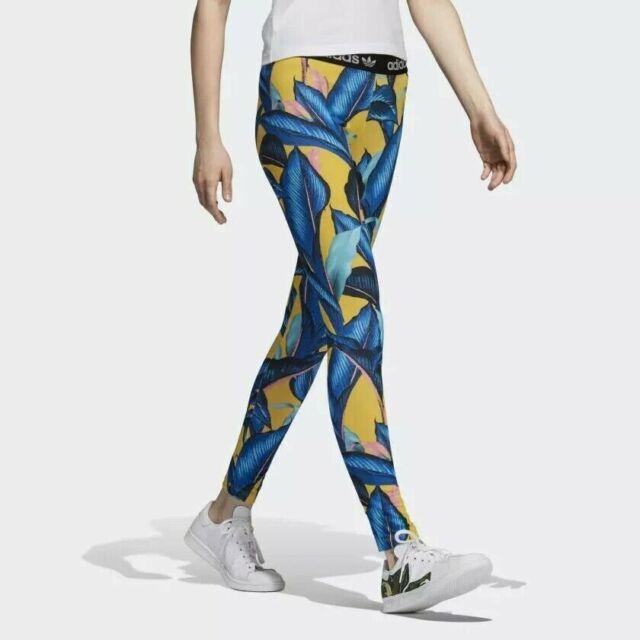 41c16614bef adidas X The Farm Big Leaf Leggings Womens Dh3056 Multi Color Pants Size XS