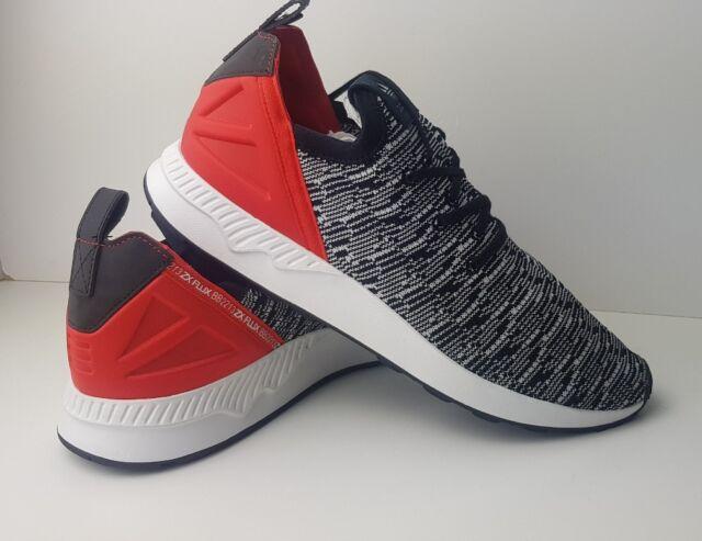 wholesale dealer 07f20 7a047 Adidas ZX Flux ADV X Primeknit Mens Trainers Black White Red Shoes Size UK  8.5