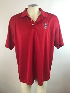 Men-s-Mickey-Mouse-Swinging-Disney-Red-Polo-Golf-Shirt-XL-Free-Shipping