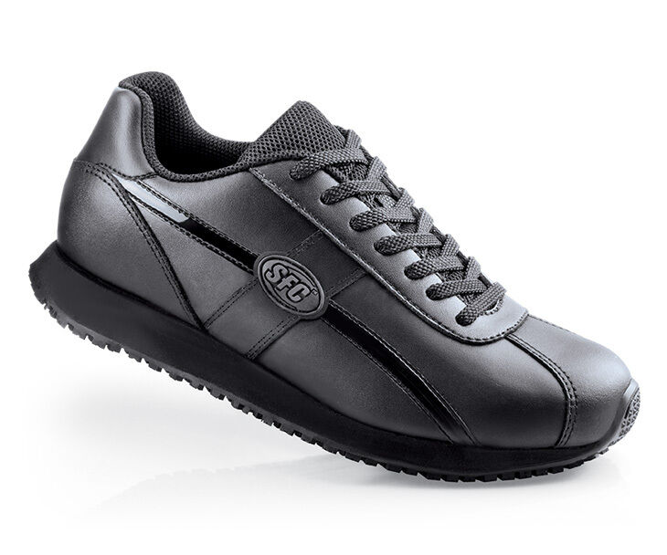 SFC Chaussures for Crews Dreamer Noir Leather Femme Chaussures 9033 Sz 11.5 /45.5