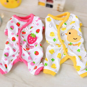 Adorable-Dog-Pajamas-Small-Pet-Cat-Clothes-Jumpsuit-Embroidery-Pup-Leisure-Wear