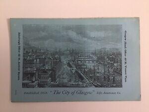 The-CITY-of-GLASGOW-Life-Assurance-Co-1868-Original-Antique-Advertising-Leaflet