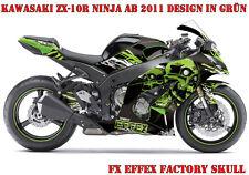 FX  FACTORY DEKOR GRAPHIC KIT KAWASAKI NINJA 250,350,650,ZX-6R,ZX-10R SKULL B