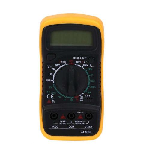 Digital LCD Multimeter Voltmeter Ammeter OHM AC DC VOLT Tester Checker XL830L