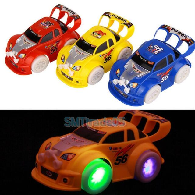 Funny Flashing Music Racing Car Electric Automatic Toy Birthday Gift