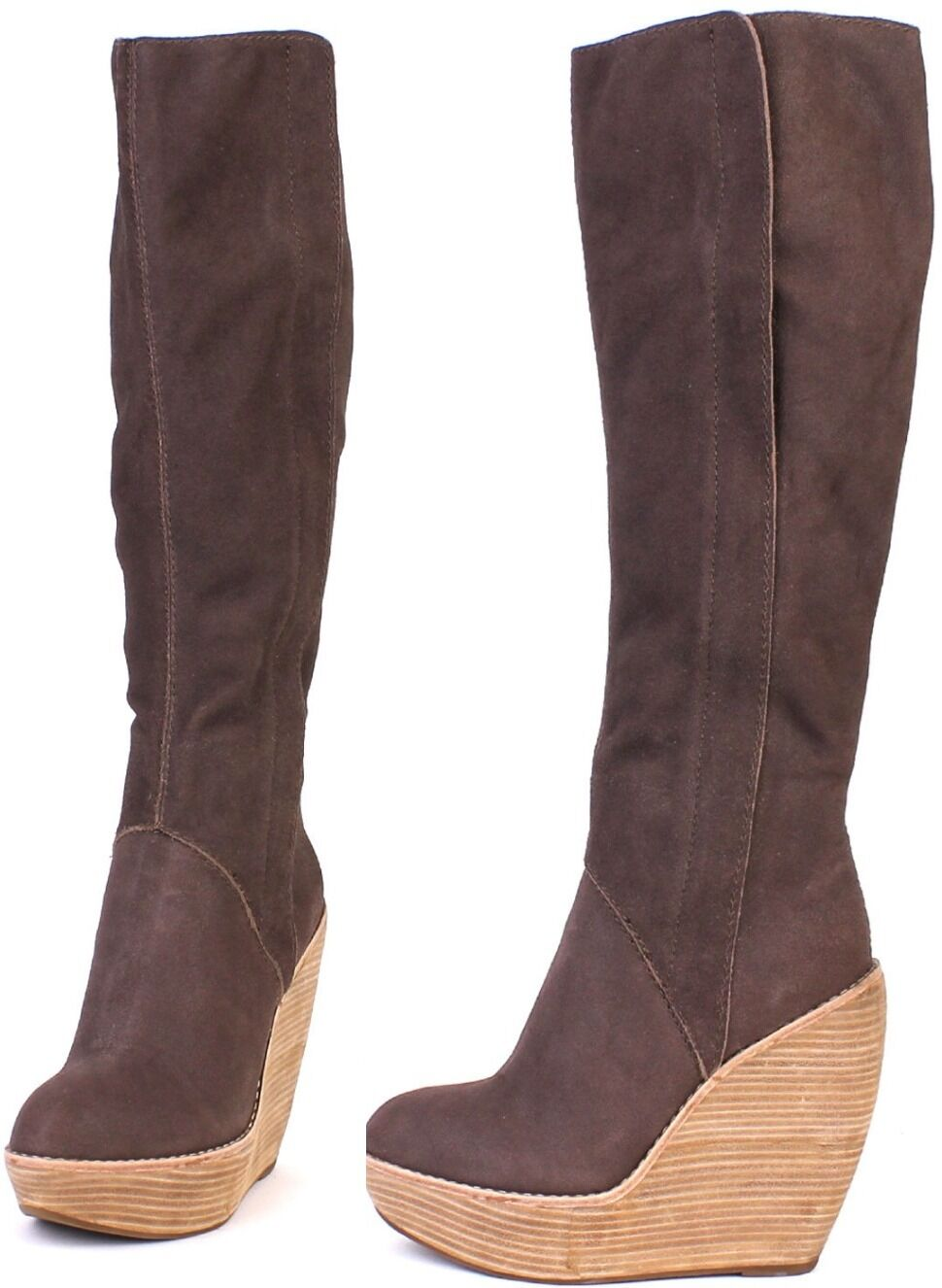 Joe's Jeans Glider Brown Knee High Boot  345 Pelle Shoes NEW tall boots