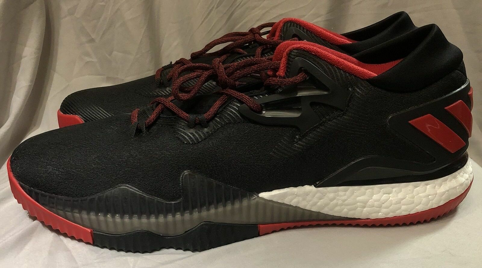 Adidas Crazylight Boost Low Black Red Basketball shoes Size 17 B42969