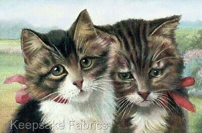 C8 Sweet Cats Reproduction Cotton Quilt Block Multi Szs FrEE ShiP WoRld WiDE