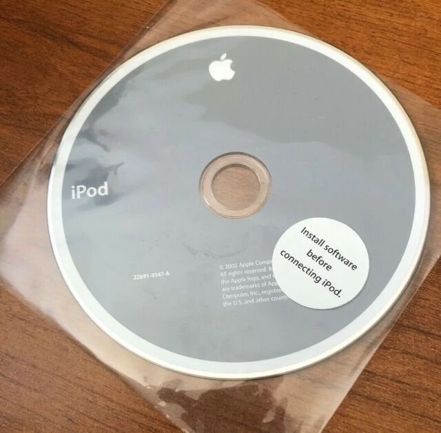 Apple Ipod Software Installation CD 2005 2z691-5547-A
