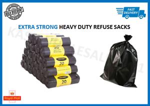 Strong-Heavy-Duty-Black-Bin-Liners-Rubbish-Bags-Waste-Refuse-Sacks