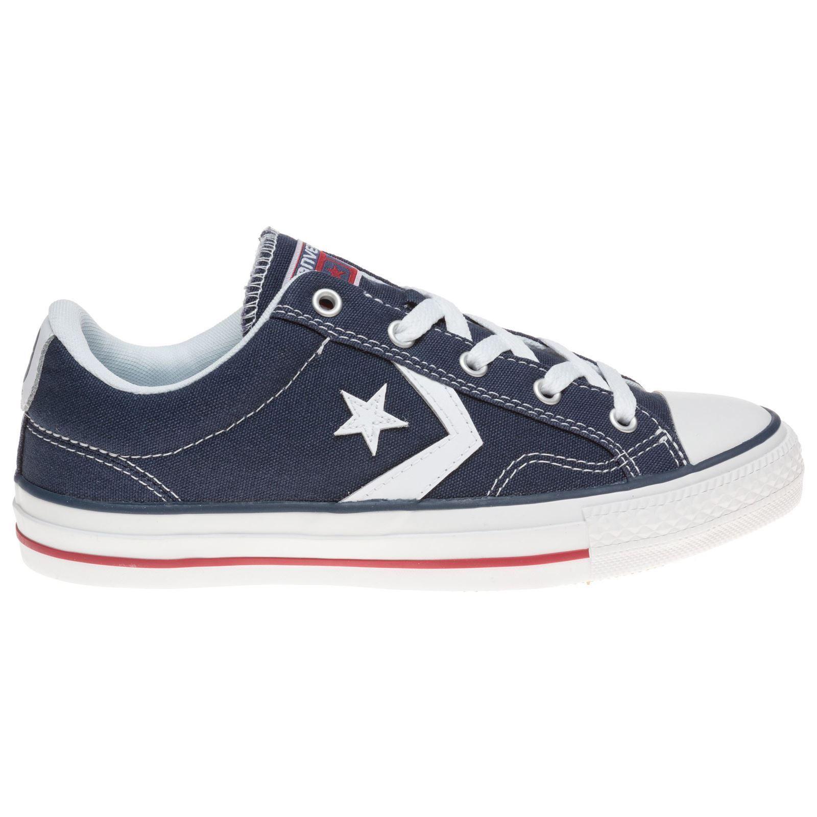 Los últimos zapatos de descuento para hombres y mujeres Converse Star Player Ox Azul Marino Blanco Para Hombre formadores