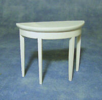 White 1:12 Scale Side Wall Table Dolls House Miniature Furniture 1170