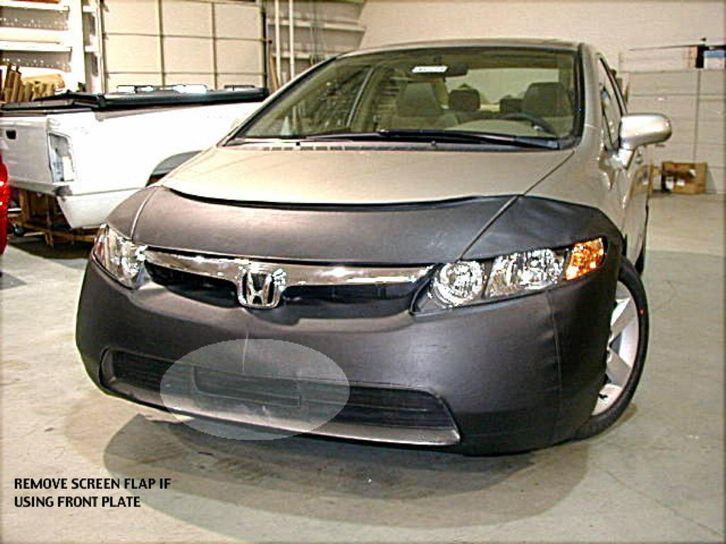 Vinyl Black 55584-01 LeBra Front End Cover Honda Civic