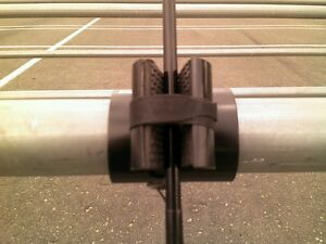 Pier dock fishing rod pole holder for spinning or for Pier fishing rod holder