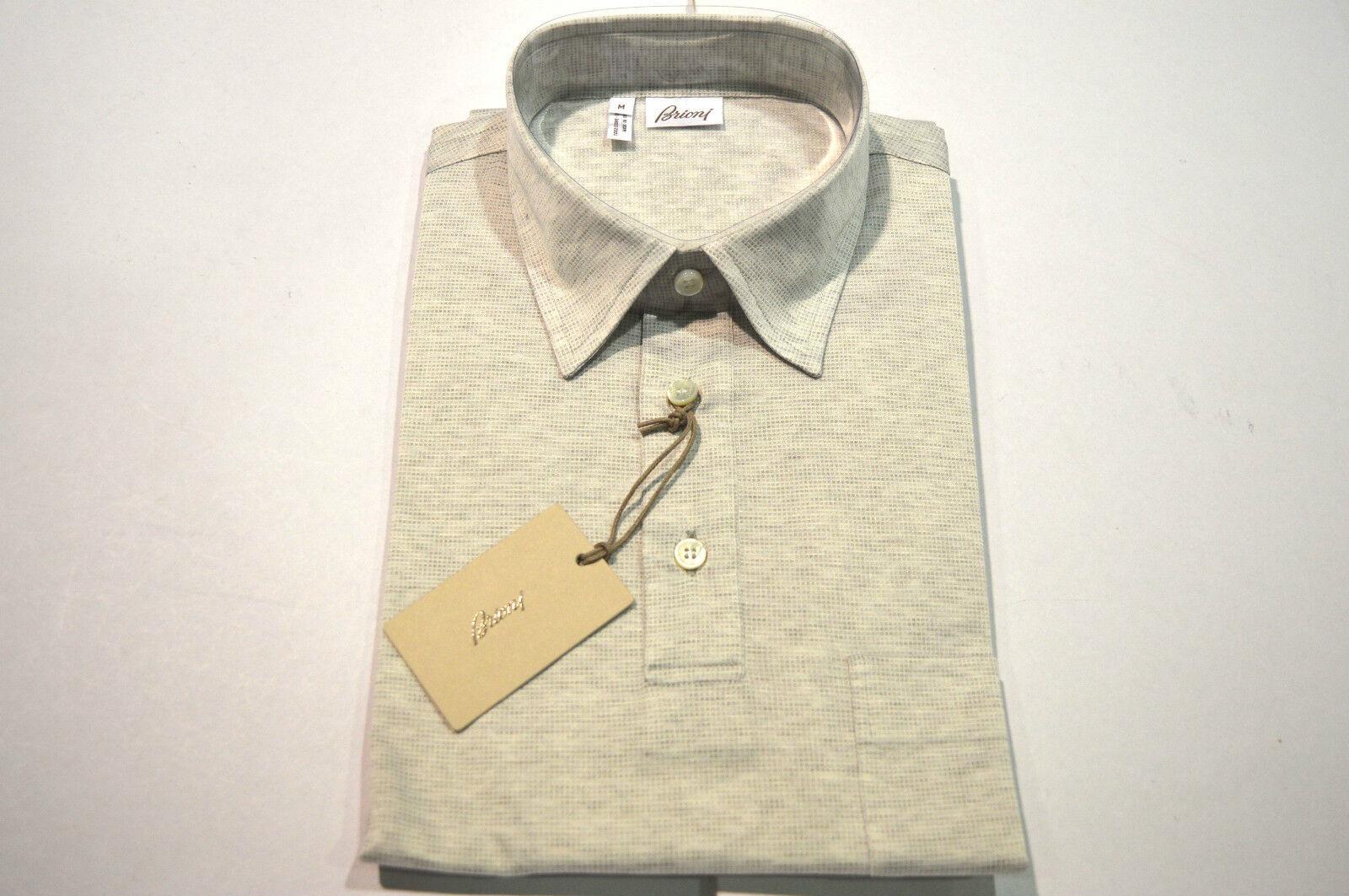 NEW  BRIONI Polo  Short Sleeve Cotton Größe M Us Eu 50 (SGpio)