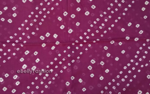 cotton  Material Sewing Craft Fabric by yard 17 color Indian Tie-Dyed Bandhani